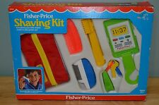 NOS VINTAGE FISHER PRICE PRETEND PLAY TRAVEL SHAVING KIT 1985 COMPLETE # 2000