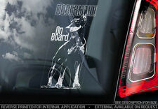 Dobermann - Car Window Sticker - Dog Sign -V04