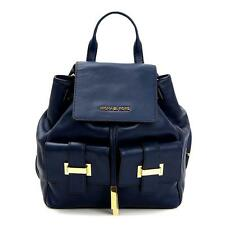 MICHAEL KORS NAVY BLUE CALF LEATHER MARLY BACKPACK RETAIL £370