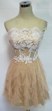 NIGHTS $110 Natural White Prom Party Dress 13 -$110 NWT