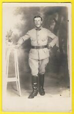 cpa Carte Photo MILITAIRE SOLDAT en Uniforme du 111e Régiment botte cavalier