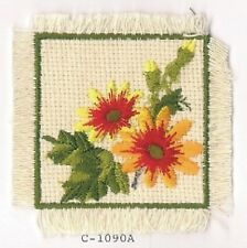 "2 7/8"" Orange Red Yellow Great Blanket Flower Embroidery Iron On Applique Patch"