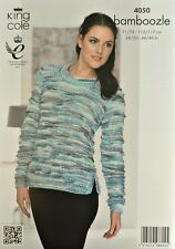 KNITTING PATTERN Ladies Long Sleeve Round Neck Jumper in Bamboozle Chunky 4050