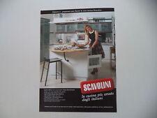 advertising Pubblicità 1989 CUCINA SCAVOLINI e LORELLA CUCCARINI