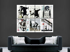 BANKSY Graffiti Street Art Collage Pared Imagen Grande Poster Gigante Enorme!!!