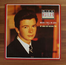 """Single 7"""" Vinyl Rick Astley - When I fall in Love - My arms keep missing you"""