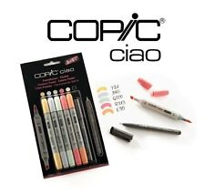 Copic ciao 5+1 tons pastel set-art graphique marqueurs -5 marqueurs + 0.3 multiliner