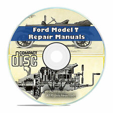 Vintage Ford Model T Car Repair, Construction, and Operation Manuals CD V48