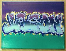 JASON  11 x 14  Canvas Spray Paint Acrylic marker original signed by the artist