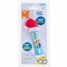 Despicable Me Minions Bubble Gum Flavored Lip Balm with Santa Hat Minion Mania
