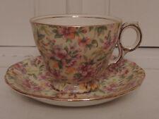 Vintage Royal Winton Chintz Estelle Cup & Saucer Teacup 1950's