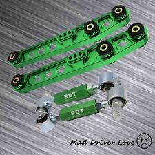FOR 90-01 INTEGRA REAR LOWER CONTROL ARM &AJUSTABLE CAMBER SUSPESION KIT GREEN