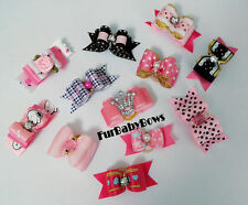 12 Pink *NEW B YORKIE Dog Puppy Bows Shihtzu Maltese Poodle Biewer Grooming