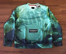 Puma x Alife AOP Crew Sweat Crewneck Sweatshirt Green Fish Men's Sz Large NEW!!