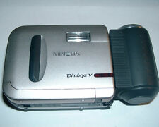 VINTAGE MINOLTA DIMAGE V DIGITAL CAMERA POWER SUPPLY W/ BUY IT NOW + CASE/STRAP