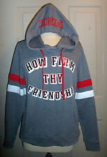 NWT VICTORIAS SECRET PINK GRAY OHIO STATE UNIVERSITY BUCKEYES SWEATS HOODIE S SM