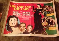 The Law And The Lady GREER GARSON VINTAGE 1951 HALF SHEET MOVIE POSTER