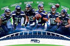 Seattle Seahawks SUPER SIX Poster WILSON, Lockett, Sherman, Baldwin, Chancellor