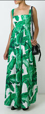 DOLCE & GABBANA Authentic $2575  Banana Leaf Maxi Dress - BNWT - Size 42