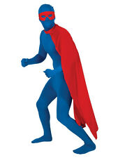 "Red 48"" Long Superhero Cape Fancy Dress Superman Mens Ladies Costume Adult Cape"