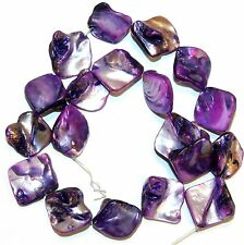 MPL1136L 5-Strands  Purple Diamond Nugget 16-20mm Mother of Pearl Shell Beads