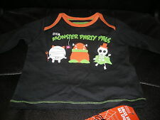 M&S HALLOWEEN BABY MONSTER PALS T-SHIRT - 3-6 MONTHS - NEW