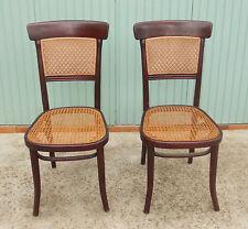 Ancienne paire de chaises Thonet bois courbé @