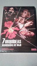 """DVD """"7 ORQUIDEAS MANCHADAS DE ROJO"""" UMBERTO LENZI MANGA FILMS PRECINTADA"""