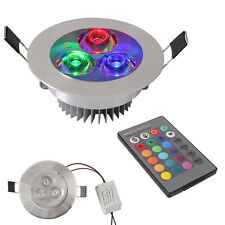 Color Changing 5W RGB LED Recessed Ceiling Down Light Bulb Lamp Remote Control