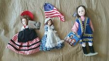 Vintage Betsy Ross Statue of Liberty France Effanbee Greece Doll Lot