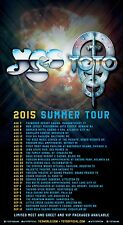 YES / TOTO 2015 NORTH AMERICAN SUMMER TOUR CONCERT POSTER-Progressive Rock Music