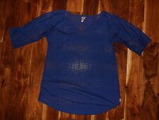 NWT Womens O'Neill Blue V-Neck Mesh Swim Cover Size M/L