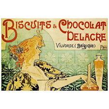 Biscuits & Chocolat Delacre Ad Deco Magnet, Henri Privat-Livemont  Art Nouveau