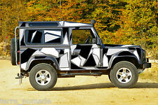 Digital Disruptive Camo Full Stickers Wrap Vinyl Van, Defender 110 Discovery