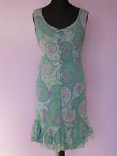 Original Vintage 60s Floral Mini Dress UK 8/10 by Susan Small Summer Festival