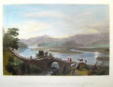 "Bartlett Hand Colored Engraving - ""JUNCTION OF STREAM WITH THE ORONTES"" -c1840"