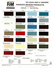 1970 FORD THUNDERBIRD LINCOLN MARK III 70 PAINT CHIPS RINSHED MASON 6
