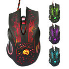 LED 3200DPI 6 Button Optical USB Wired Gaming Mouse for PC Laptop Mac Pro Gamer