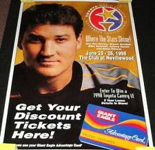 "Mario Lemieux Golf Invitational ORIGINAL 1998 28x40"" Giant Eagle Store Poster"