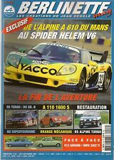 BERLINETTE MAG 46 R12 GORDINI BMW 2002 Ti R5 ALPINE TURBO A610 A110 1600 S ELF 2