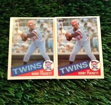(2) 1985 Topps KIRBY PUCKETT RC LOT #536 Minnesota Twins ROOKIE