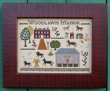 WOODLAWN MANOR SAMPLER-CROSS STITCH-CARRIAGE HOUSE