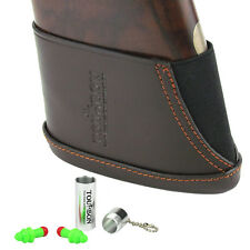 Tourbon Ear Plugs Hunting + Leather Recoil Pad Butt Stock Holder Slip-on Rifle