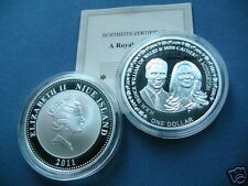 manueduc   1 DOLLAR 2011 NIUE ISLAND  PROOF  BODA WILLIAM y CATERINE