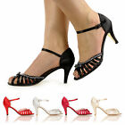 NEW DIAMANTE SANDALS ANKLE STRAP HIGH HEELS LADIES SUMMER SHOES SIZE 3-8
