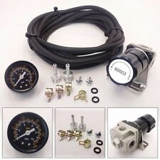 Universal Black Turbo Manual Boost Controller with Gauge 1-150 PSI MBC D15 D16