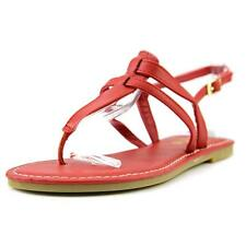 Sunny Feet Sequoia-27 Women US 7 Red Thong Sandal NWOB  1928