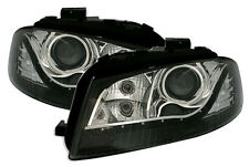Black clear color finish headlights front lights for AUDI A3 8P 8PA Sportback
