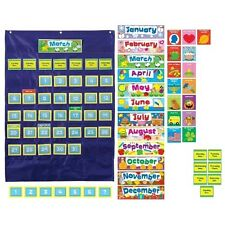 Carson-Dellosa Monthly Calendar 43-Pocket Chart with Day/Week Cards - 158156