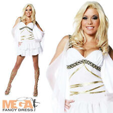 Greek Goddess Grecian Aphrodite Fancy Dress Ladies White Costume Outfit UK 10 12